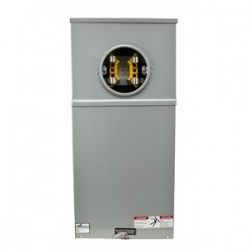 Eaton Electrical - 124 TB - Cooper B-Line 124 TB Meter Socket, 200A, 1PH, 4 Jaw, 600VAC, Ring Type, Test Block Bypass