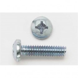 BizLine - 1032X1PHPMSZJ - Bizline 1032X1PHPMSZJ Machine Screw, Pan Head, Phillips, 10-32 x 1, Zinc Plated Steel