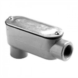 Bridgeport Fittings - LB-48CG - Bridgeport Fittings LB-48CG Conduit Body With Cover/Gasket, Type: LB, Size: 3, Aluminum