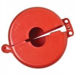 Brady - 103535 - Brady 103535 5-3/4 x 1-3/4 Red Gate Valve Lockout, Diameter: 2-1/2