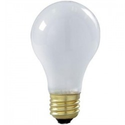 Candela - 100ARSTF130V - Candela 100ARSTF130V Incandescent Bulb, Coated, Rough Service, A19, 100W, 130V, Frosted