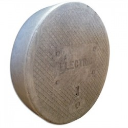 Oldcastle Precast - 02001185 - Oldcastle Precast 02001185 Round Cover, Diameter: 8, Fibrelyte