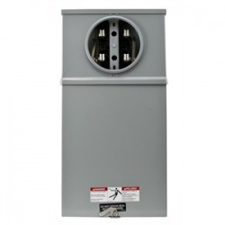 Eaton Electrical - 114 TB - Cooper B-Line 114 TB Meter Socket, 100A, 1PH, 4 Jaw, 600VAC, Ring Type, Test Block Bypass