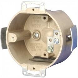Allied Moulded - 9338-ESGK - Allied Moulded 9338-ESGK Fixture Support Box, Round 3-1/2, Bracket Ears, Non-Metallic