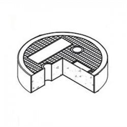 Oldcastle Precast - 1008750 - Oldcastle Precast 1008750 Round Concrete Lid, Reinforced, Diameter: 8-7/8, Legend: ELECTRIC