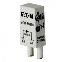Eaton Electrical - MOD-BD250 - Rly Mod: Protection Diode 6-250vdc, For Compat. D2 Socket