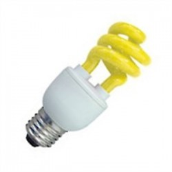 Halco - 109222 - Halco 109222 Compact Fluorescent Lamp, Mini-Twister, 11W, Yellow