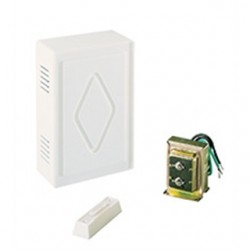 Air King - CK200 - Air King CK200 Chime Kit, One Entrance, 16VAC, Illuminated Pushbutton, Wired, White