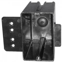Allied Moulded - P-241HQT - Allied Moulded P-241HQT Switch/Outlet Box, 1-Gang, Depth: 3-9/16, Bracket, Non-Metallic