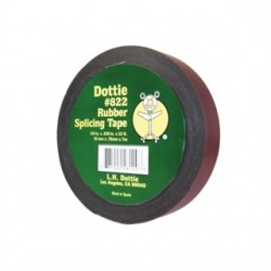 L.H. Dottie - 822 - Dottie 822 Rubber Splicing Tape, Low-Voltage, Black, 3/4 x 22' Roll, 30 mil Thick