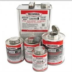 Rectorseal - 55980 - Rectorseal 55980 PVC Cement, Clear, 1/2 Pint