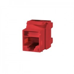 Ortronics - OR-KS6A-42 - Ortronics OR-KS6A-42 Snap-In Connector TechChoice CAT 6 Red