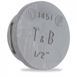 Thomas & Betts - 1451 - Thomas & Betts 1451 Knockout Seal, Type: Snap-In, Size: 1/2, Thermoplastic