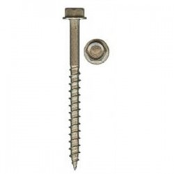 Quickscrews - SPHS14X340 - Quickscrews International SPHS14X340 Hex Washer Head Screw, Stainless Steel, Type 17, #14 x 3
