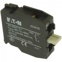 Eaton Electrical - A22-EK10C - Circuit Breaker Accessory, Moeller Miniature Circuit Breakers, Contact Element