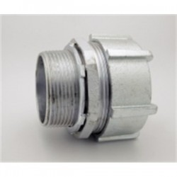 Bridgeport Fittings - 256-US - Bridgeport Fittings 256-US Compression Connector, Size: 2-1/2, Concrete-Tight, Malleable Iron