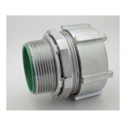 Bridgeport Fittings - 256-USI - Bridgeport Fittings 256-USI EMT Compression Connector, 2-1/2 Insulated Throat, Malleable Iron
