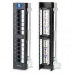 BizLine - PPC6WM12P - Bizline PPC6WM12P Patch Panel, Mini, Cat 6, 12 Port, Vertical, 89D Bracket