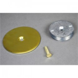 Wiremold / Legrand - 1044B - Wiremold 1044B Blanking Top Plate, Diameter: 3-1/2, For use with: 3/4 IPS, Brass