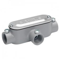 Bridgeport Fittings - T-41CGC - Bridgeport Fittings T-41CGC Conduit Body, Type T, 1/2, Cover/Gasket, Aluminum