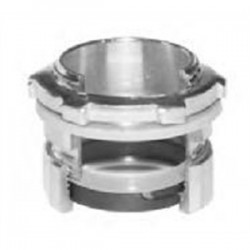 American Fittings - EC754BUSRT - American Fittings Corp EC754BUSRT 1-1/2 inch EMT Compression Connector Raintight, Material: Steel, With Insulated Throat.
