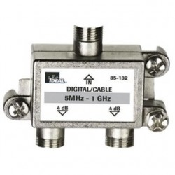 IDEAL Electrical / IDEAL Industries - 85-132 - Ideal 85-132 High Performance Cable Splitter 5MHz-1GHz 2-Way Card of