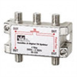 IDEAL Electrical / IDEAL Industries - 85-334 - Ideal 85-334 Splitter, 4-Way, Satellite/Digital TV, 5MHz - 2.3GHz