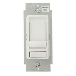 Leviton - 6674-10W - Leviton 6674-10W Dimmer, Sureslide, CFL/LED/Incandescent, 150/600W, White