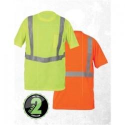 Lift Safety - AVE-10E1L - Lift Safety AVE-10E1L Orange Safety Shirt, Extra-Large, Short Sleeve