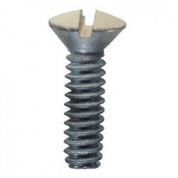 L.H. Dottie - 414ALD - Dottie 414ALD 1/2 Oval Head Screw, 6/32 Thread - Almond, 100 Pack