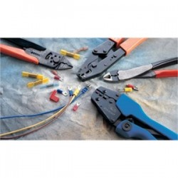 Thomas & Betts - RA25177M - Thomas & Betts RA25177M Male Disconnect, Nylon Fully-Insulated, 16 - 14 AWG, .25 x .032 Tab, Blue, Limited Quantities Available