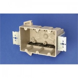 Allied Moulded - 3300-2Z2K - Allied Moulded 3300-2Z2K Switch/Outlet Box with Bracket, Depth: 3, 3-Gang, Non-Metallic