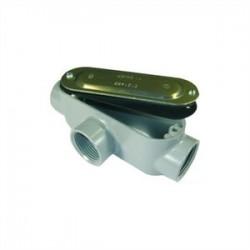 L.H. Dottie - T50CG - Dottie T50CG Conduit Body With Cover/Gasket, Type: T, Size: 1/2, Aluminum