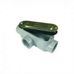 L.H. Dottie - C75CG - Dottie C75CG Conduit Body With Cover/Gasket, Type: C, Size: 3/4, Aluminum