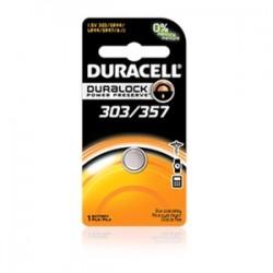Duracell - D303/357B3P10 - Duracell D303/357B3P10 Battery, 1.5V, 303/357, Zinc/Monvalent Silver Oxide, Button Cell