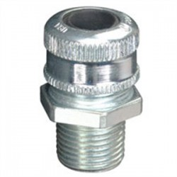 Eaton Electrical - CGB195SG - Cooper Crouse-Hinds CGB195SG Cord Connector, Straight, Male, 1/2, Sealing Gasket, Steel