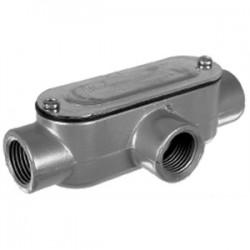 Topaz Lighting - T5CG - Topaz T5CG Conduit Body, Type: T, 1-1/2, Cover/Gasket, Aluminum