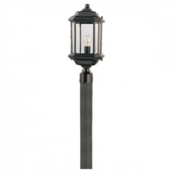 Sea Gull Lighting - 82029-12 - Sea Gull 82029-12 1l Post Lantern Black Die Cast