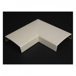 Wiremold / Legrand - 2311 - Wiremold 2311 90 Flat Elbow / 2300 Series Raceway, PVC, Ivory