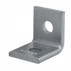 Atkore - P1026 EG - Unistrut P1026 EG Two Hole Corner Angle, Steel/Electro-Galvanized