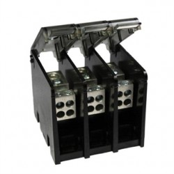 Burndy - BDBLHC2125003 - Burndy BDBLHC2125003 Power Distribution Block, 3-Pole, (1) 4 - 500 Run, (12) 4 - 14 Tap