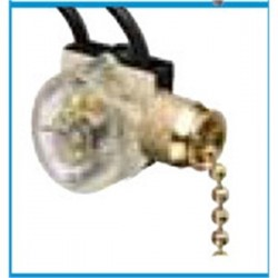 IDEAL Electrical / IDEAL Industries - 774032 - Ideal 774032 Pull Chain Switch, SPST, On-Off, Brass Chain