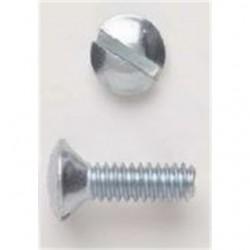 BizLine - 632X12SSPS - Bizline 632X12SSPS Wall Plate Screws, #6-32 x 1/2, Slotted, Oval Head, Stainless, 100/PK