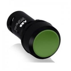 ABB - CP1-10G-10 - ABB CP1-10G-10 22mm Assembled Pushbutton, Flush, Green, Compact