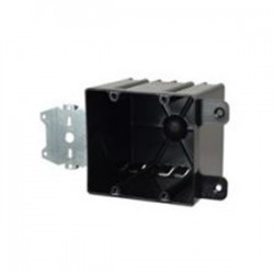 Allied Moulded - P-442HQT - Allied Moulded P-442HQT Switch/Outlet Box with Bracket, Depth: 3-9/16, 2-Gang, Non-Metallic