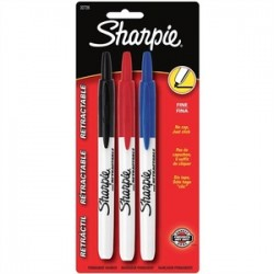 IRWIN Industrial Tool - 32726PP - Irwin 32726PP Retractable Permanent Markers, Fine Point, 3-Pack