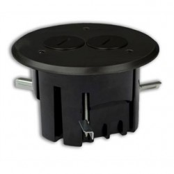 Allied Moulded - FB-3DB - Allied Moulded FB-3DB Floor Box Assembly, Includes Duplex Receptacle, Metallic Floor Plate