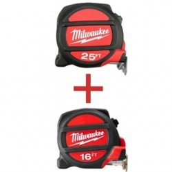 Milwaukee Electric Tool - 48-22-5125H - 25-Foot Tape Measure with 16-Foot Tape Measure Free