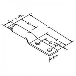 3M - 40166 - 3M 40166 Copper/aluminum Two-hole Lug