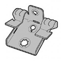 Thomas & Betts - SSF-BH1/2S - Steel City SSF-BH1/2S Beam Clamp, Hammer-On, Flange: 5/16 - 1/2, Thread: 1/4-20, Steel